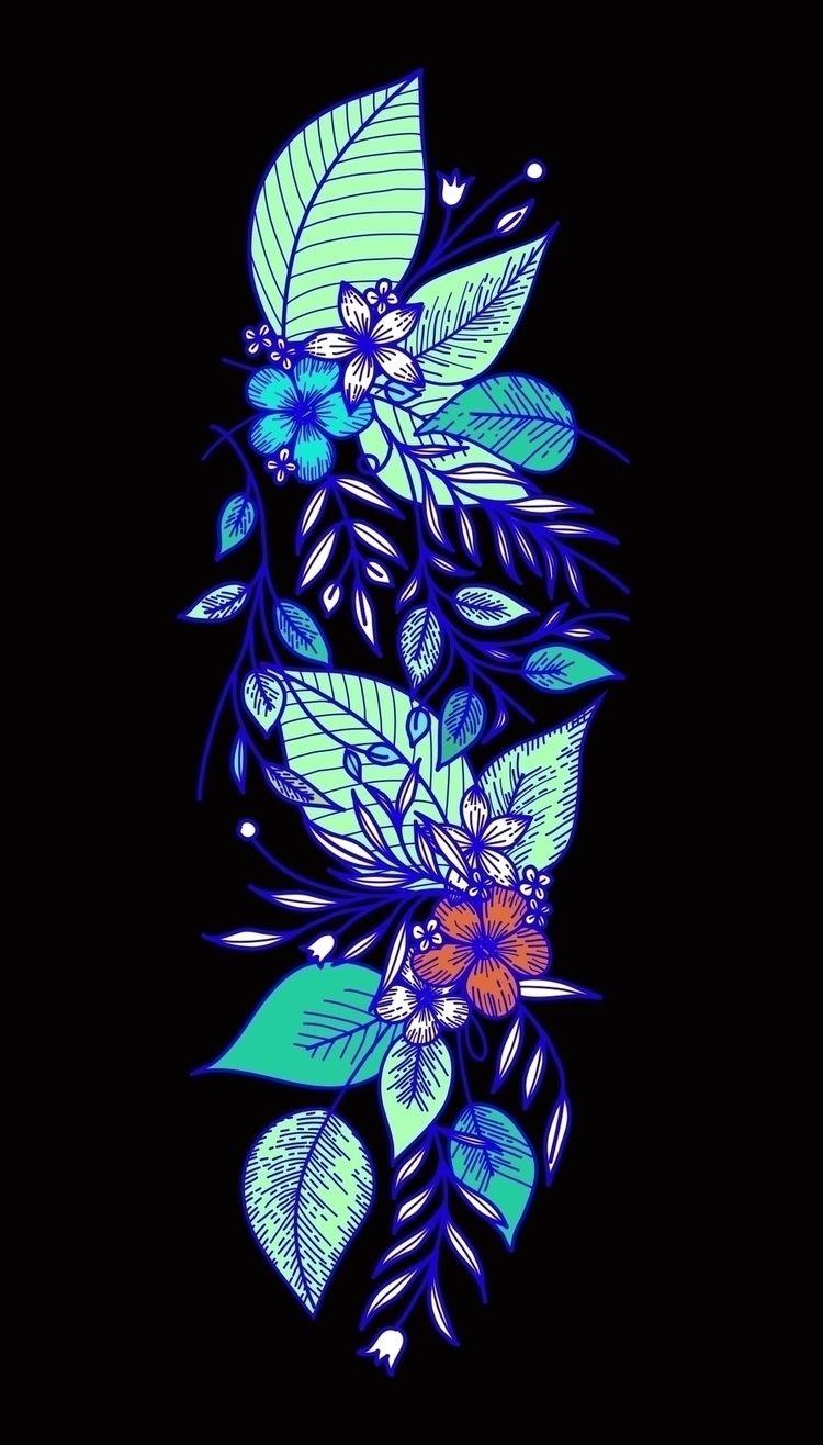 Tropical flowers. products illu - libedlulo | ello