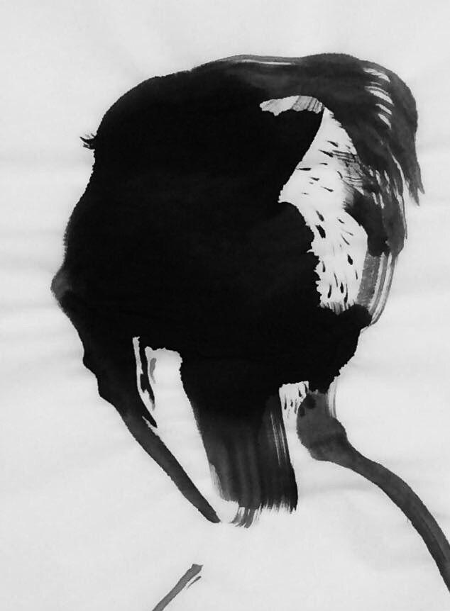art, inkwash, portrait, mlui - mlui   ello