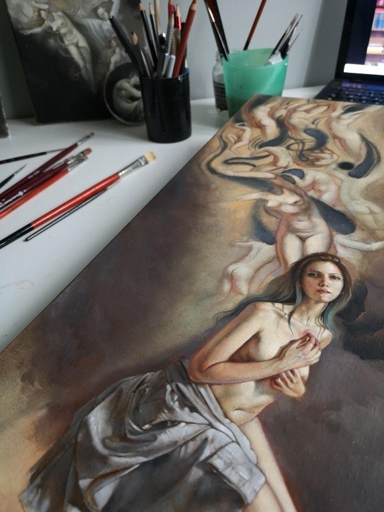 Wip, oil linen canvas - ania_tomicka | ello