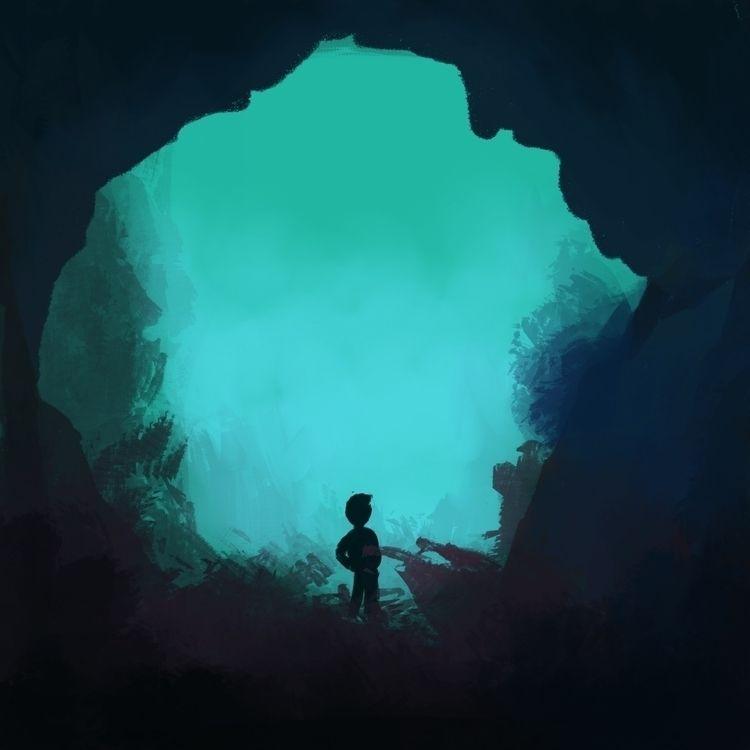 Ello! Beneath waterfall - ridm16 | ello