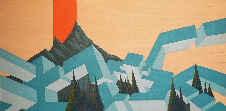 Glacial Erratic - Acrylic Wood  - omcp | ello