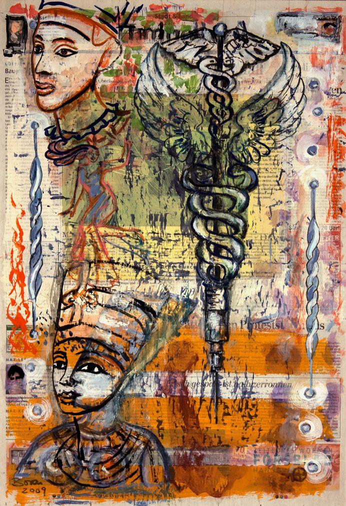 Pharaonic Injection, painting n - boraistudio   ello