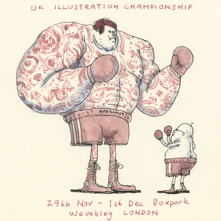 Entering ring time theUK illust - mattiasadolfsson | ello