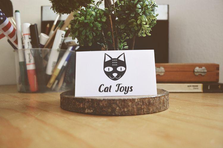 Cat logo design - logo_design, graphic_design - catinleaves | ello
