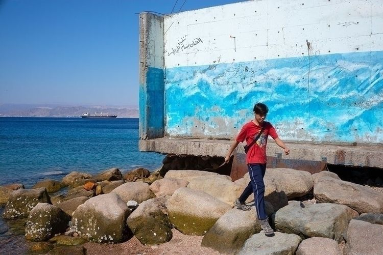 jordan, sea, paint, walk, blur - karlwong422 | ello