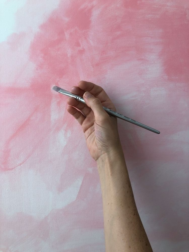 Starting large canvas. Exciting - theaxx | ello