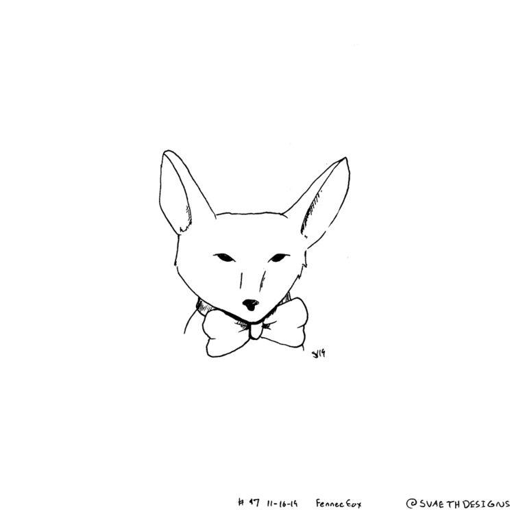 Sketch Daily - 47 Fennec Foxes - svaeth | ello