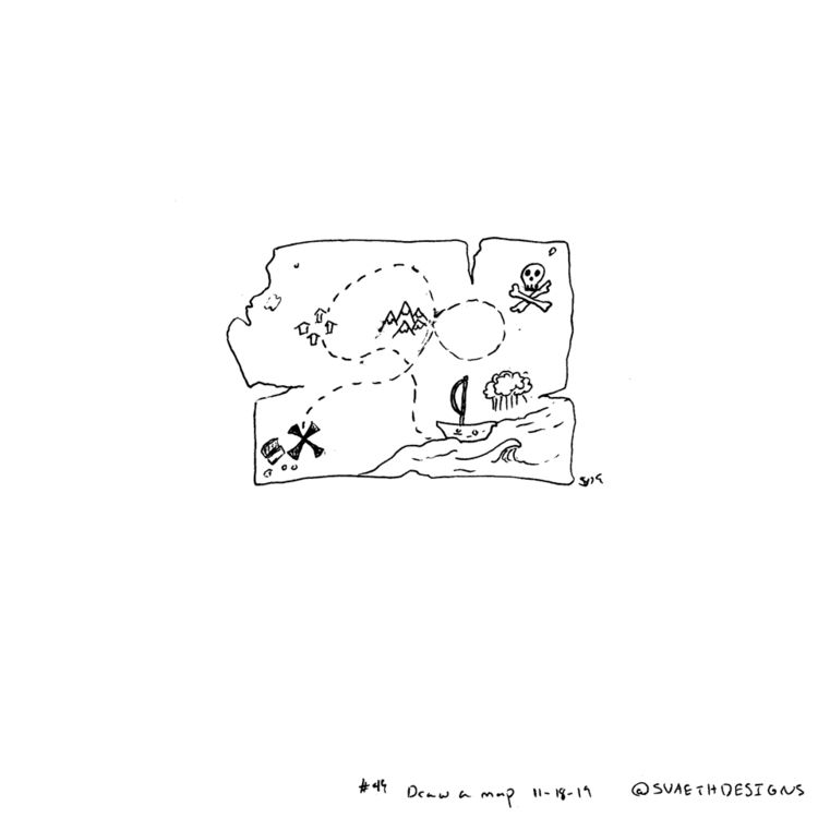 Sketch Daily - 49 Draw map - sketchdaily - svaeth | ello