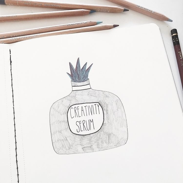 Creativity serum...wishing easy - veroniquebenedictson | ello