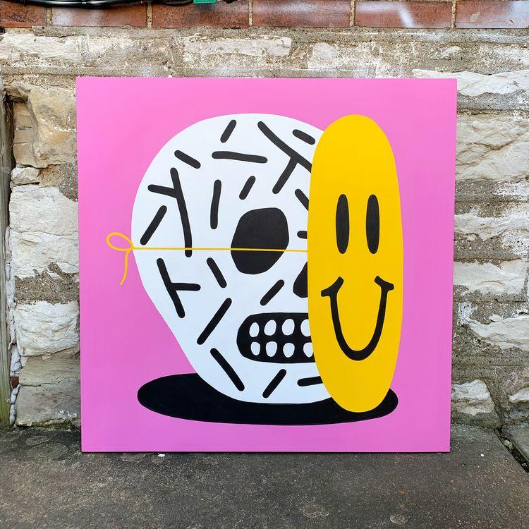 SLIME WUZ 2019 | 32x32 Acrylic  - grossillustration | ello