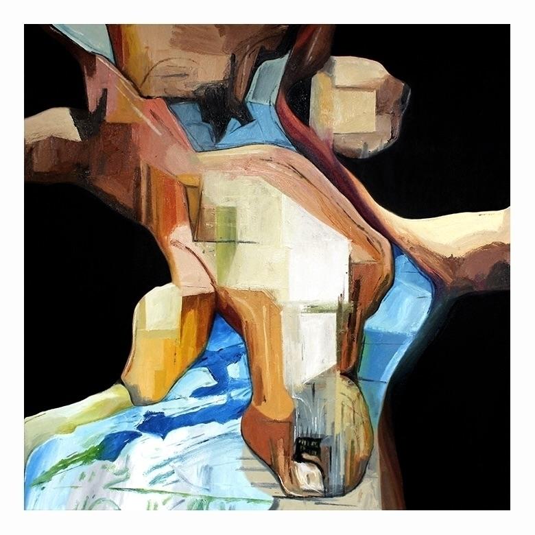 Bed 4. Oil canvas, 80x80cm, 201 - carpmatthew | ello
