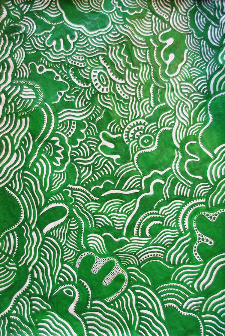 MonoGreen, acrylic paper, 70 10 - royalglamsters | ello