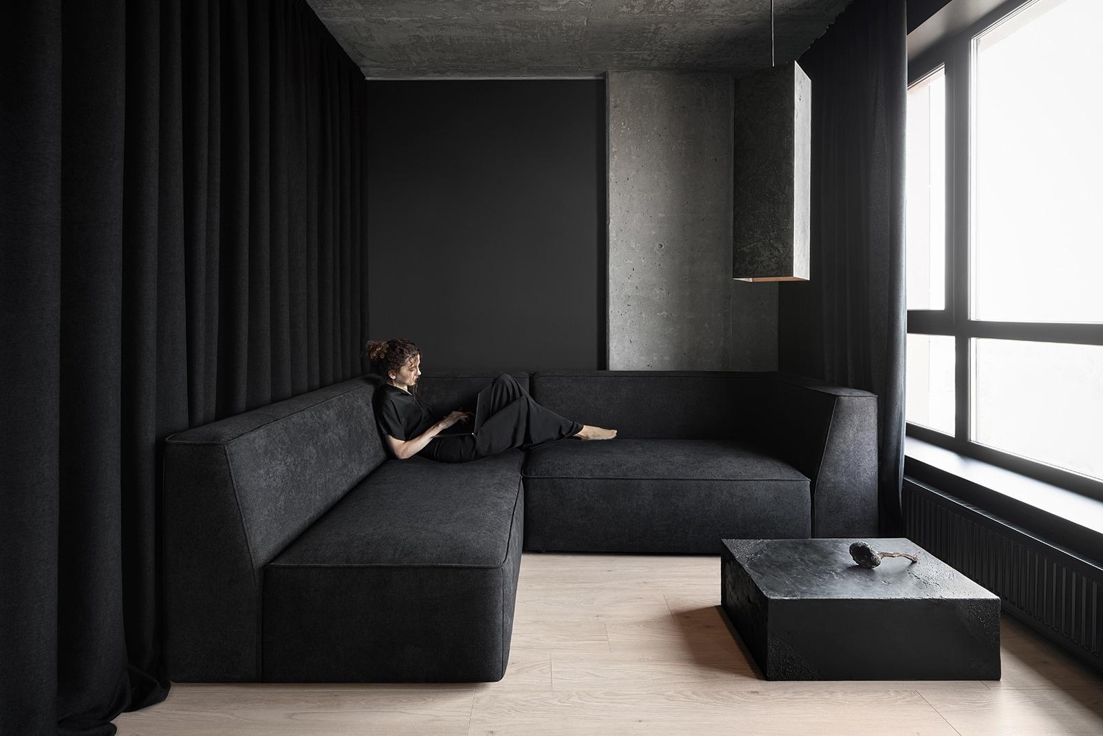 """black cube"" aesthetic Apartmen - minimalissimo | ello"