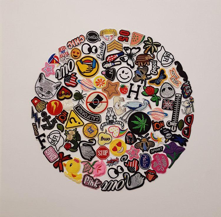 Time - 24 2 embroidery patches - markbueno | ello