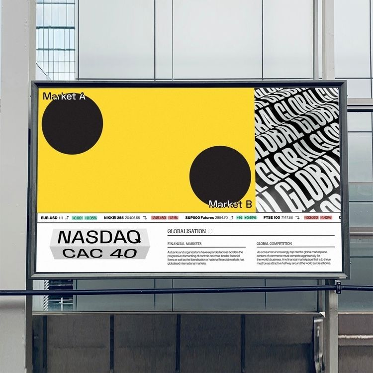 'Global Markets' poster designe - monish_khara | ello