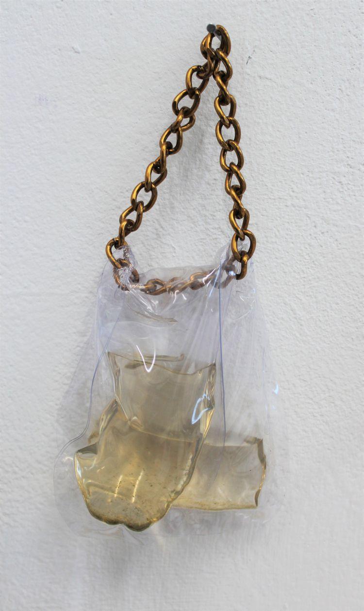 Plastic sheet chain sea water.  - madeleinekaye | ello