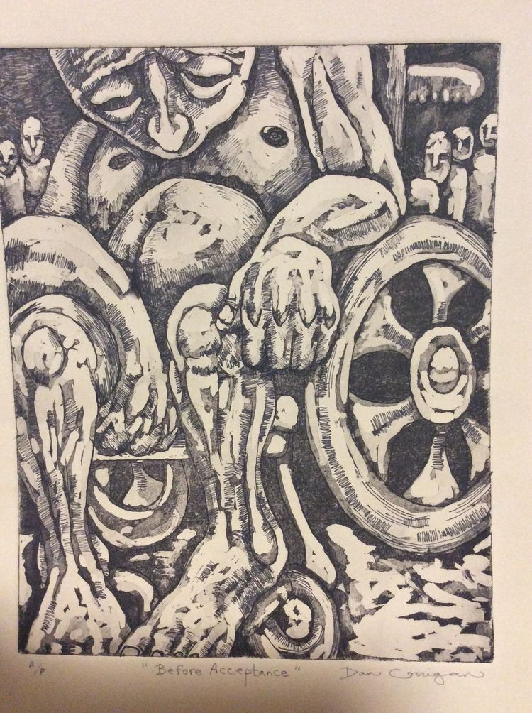 etching, printmaking, intaglio - dan_corrigan | ello