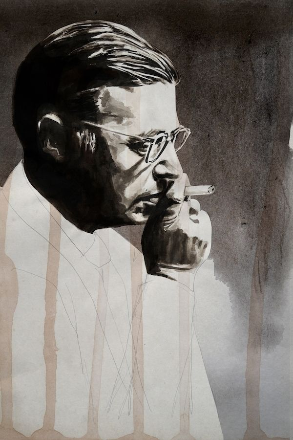 Jean Paul Sartre Ink paper, 201 - daviddiehl | ello