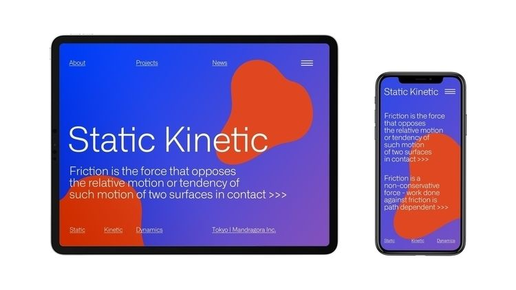 Static Kinetic Identity | Web d - 364design | ello