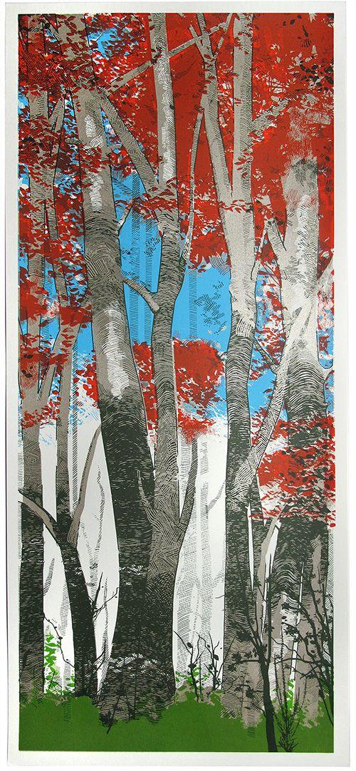 Woodland Birch Created colour l - chriskeegan | ello