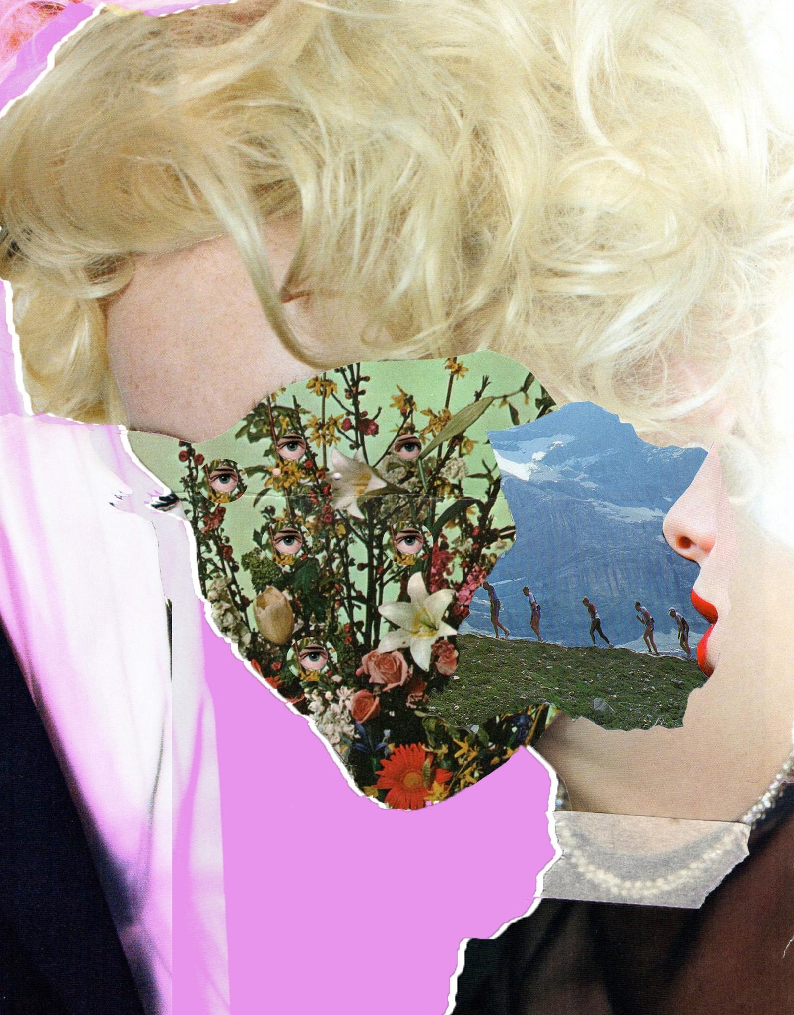 2019 - collage, abstractart, flower - franalvez | ello