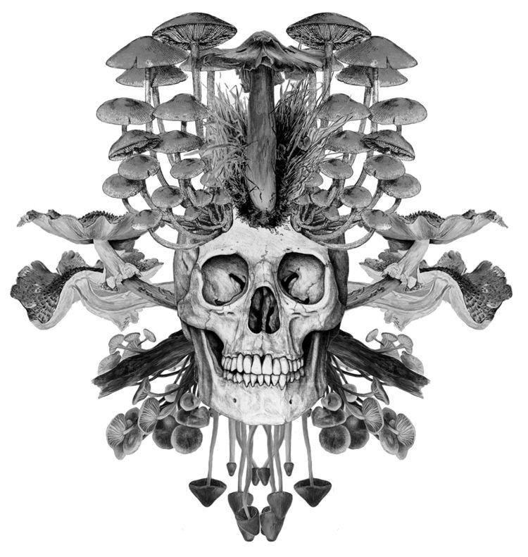 Mushroom Skull 2019 Digital col - peterandrew | ello