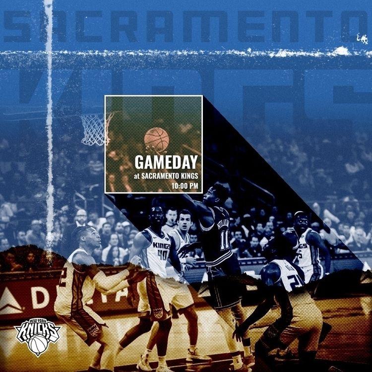 Knicks Kings Game day graphic - christovw   ello