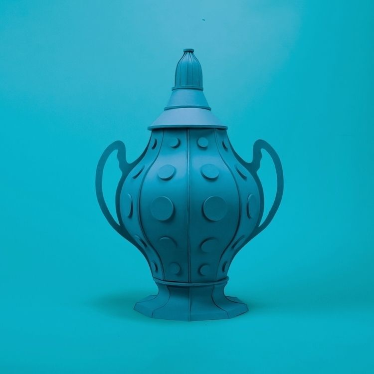 blue urn gathering dust bit spe - hampusha | ello