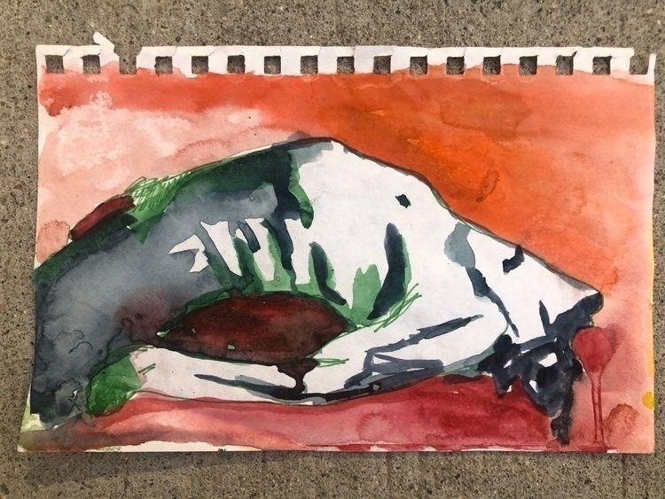 repose watercolor pen 5.5x9in 9 - dommy79   ello