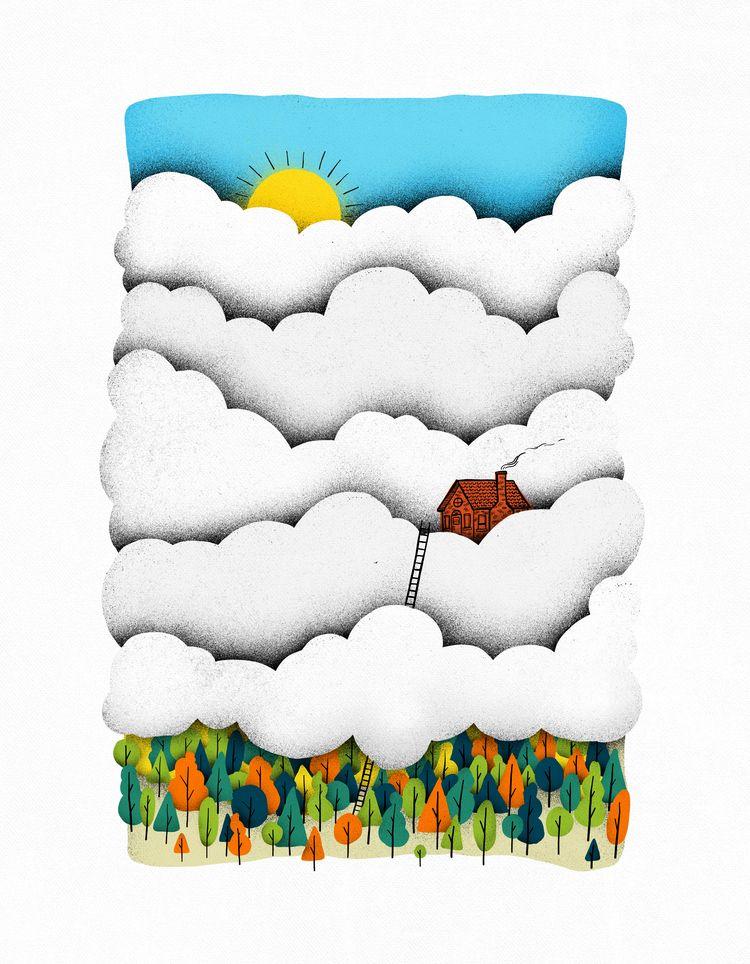 Home clouds - home, escape, introvert - gintron | ello