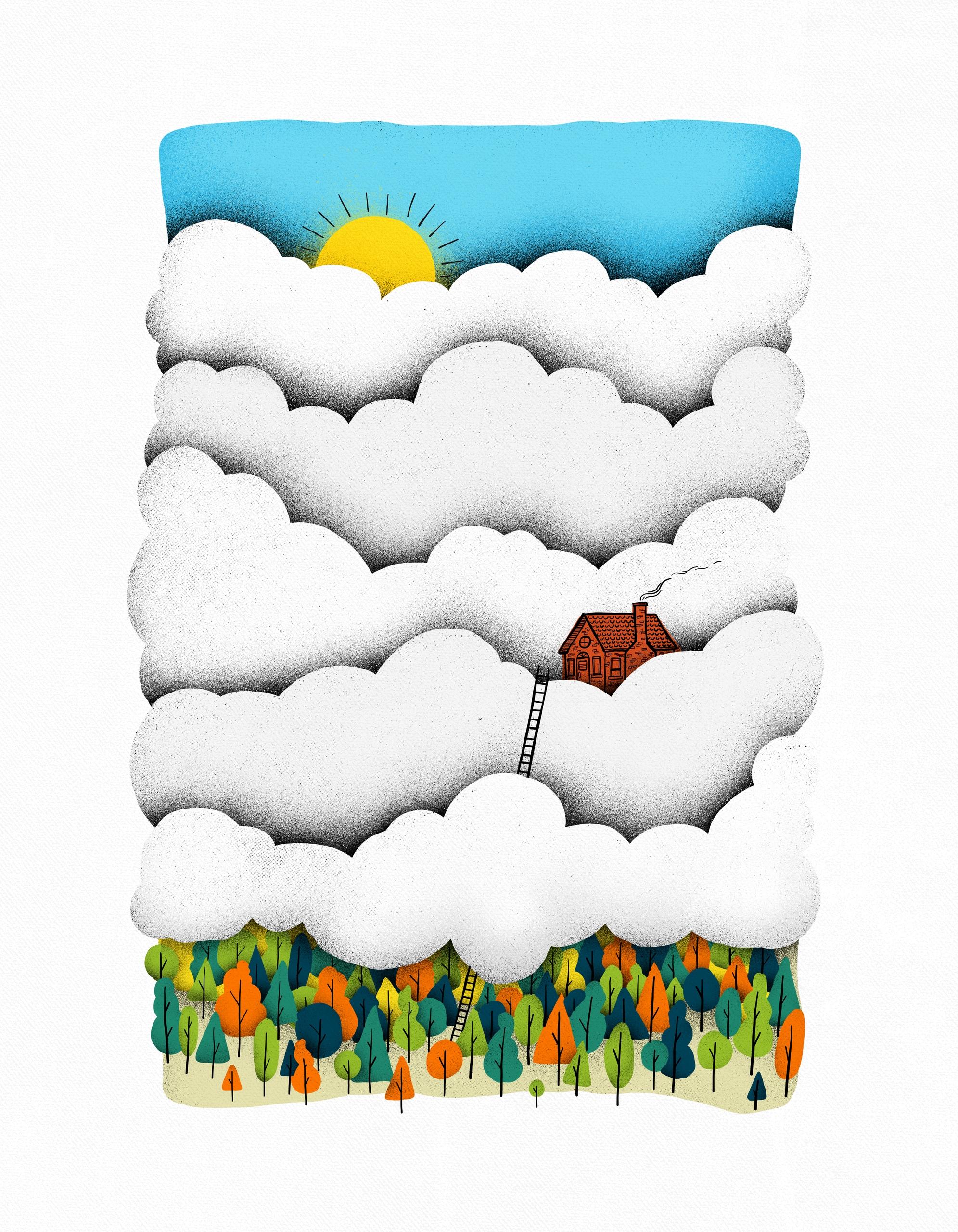 Home clouds - home, escape, introvert - gintron   ello