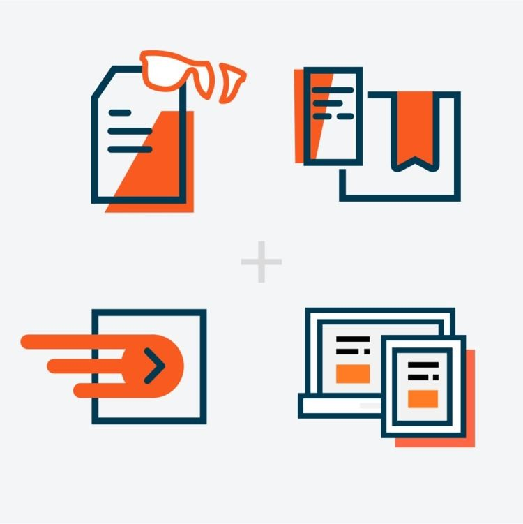 Colorful product icons online s - pmjm | ello
