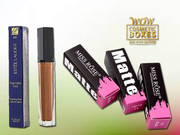 Custom lip gloss boxes presence - custombox | ello