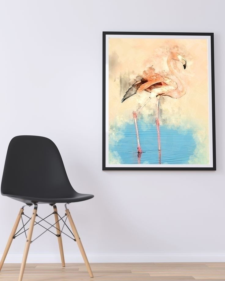 Flamingo Love Art Print Mockup  - creativeaxle | ello