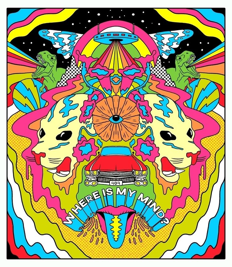 Psychedelic illustration shows  - rahuljonline | ello
