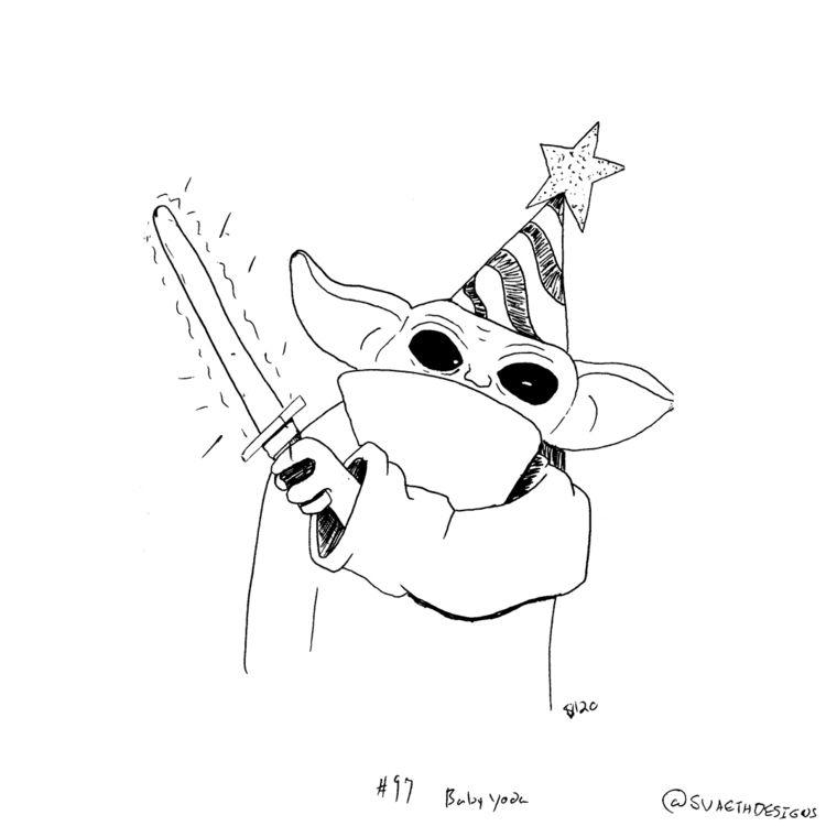 Sketch Daily - 97 Baby Yoda - sketchdaily - svaeth | ello