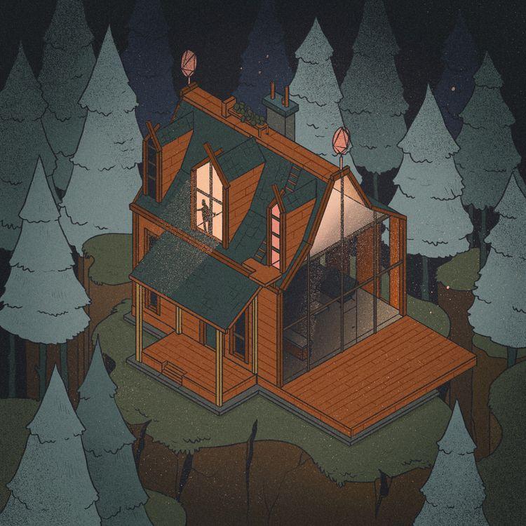 Isometric houses – part 5 cabin - _s__g__h_ | ello