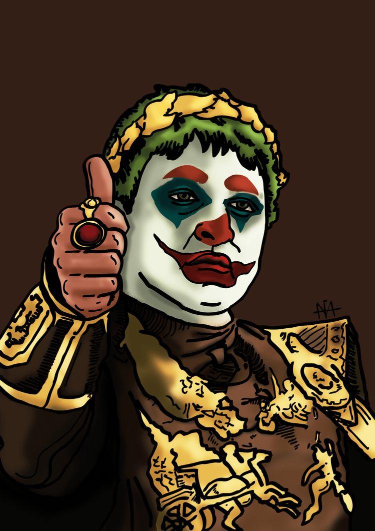 Jokerius - illustration, art, movies - afavasquez | ello