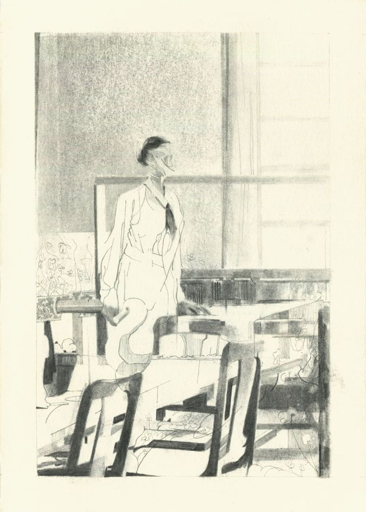 Weaving Room Charcoal graphite  - jamesleechart | ello