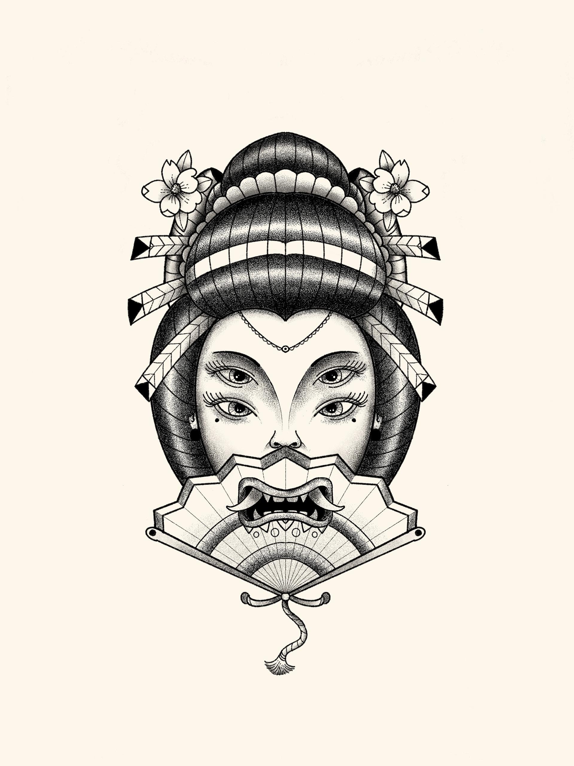 Geisha mask - heymikel | ello