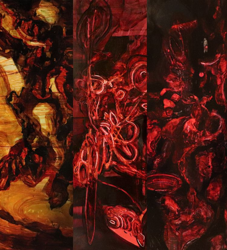 Biogenics - artwork, markeronpaper - omidhaseltalab   ello