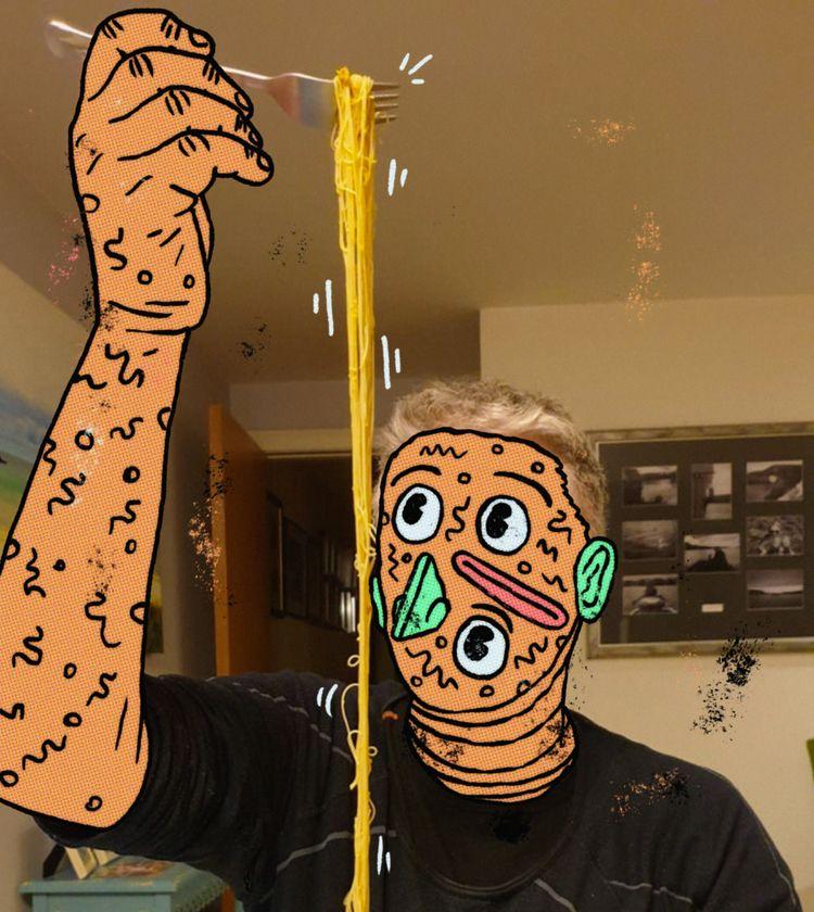 Noodle guy observes prey 2020  - labrosse | ello