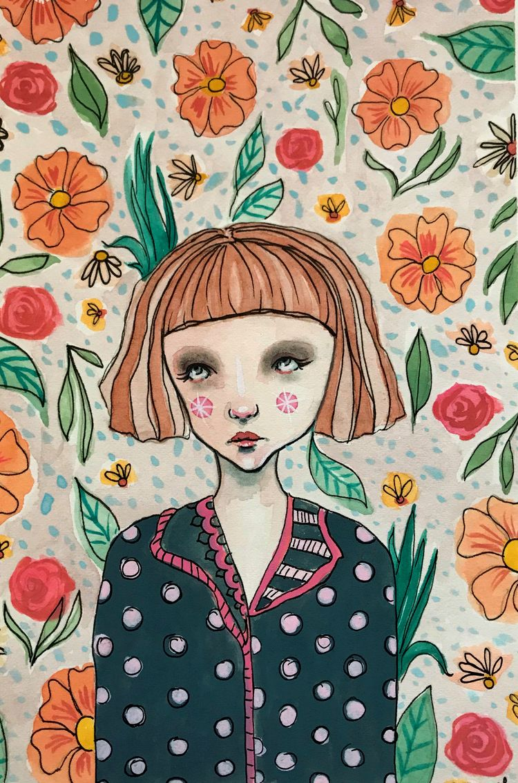 Girl polka dot pajamas Mixed me - amberleilani | ello