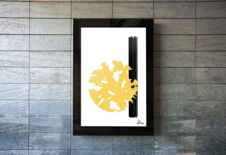 Abstract Sun digital paint, min - designdn | ello