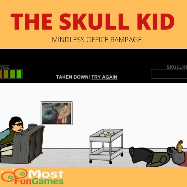 mindless office rampage, Skull  - mostfungames194 | ello