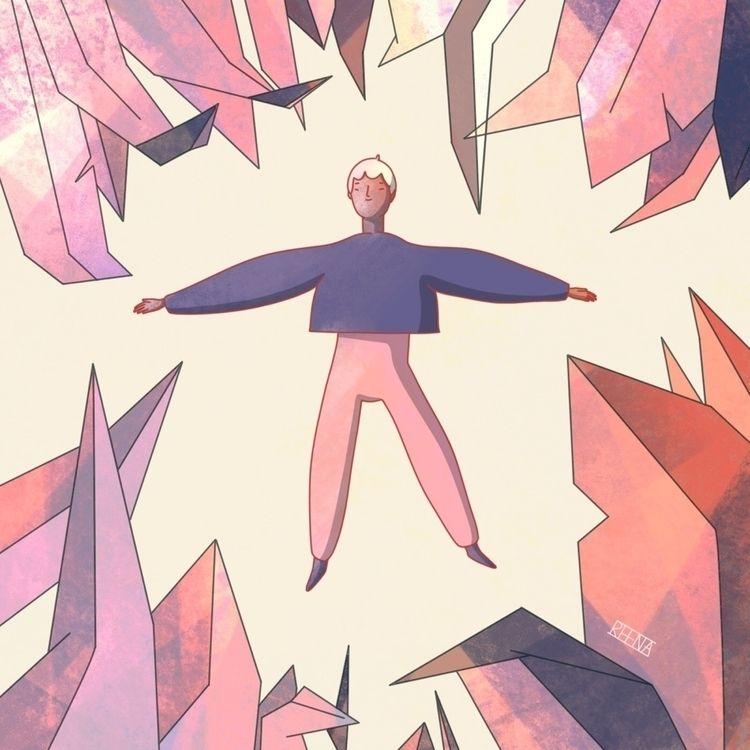 Autumn spinning girl - illustration - rowenareena   ello