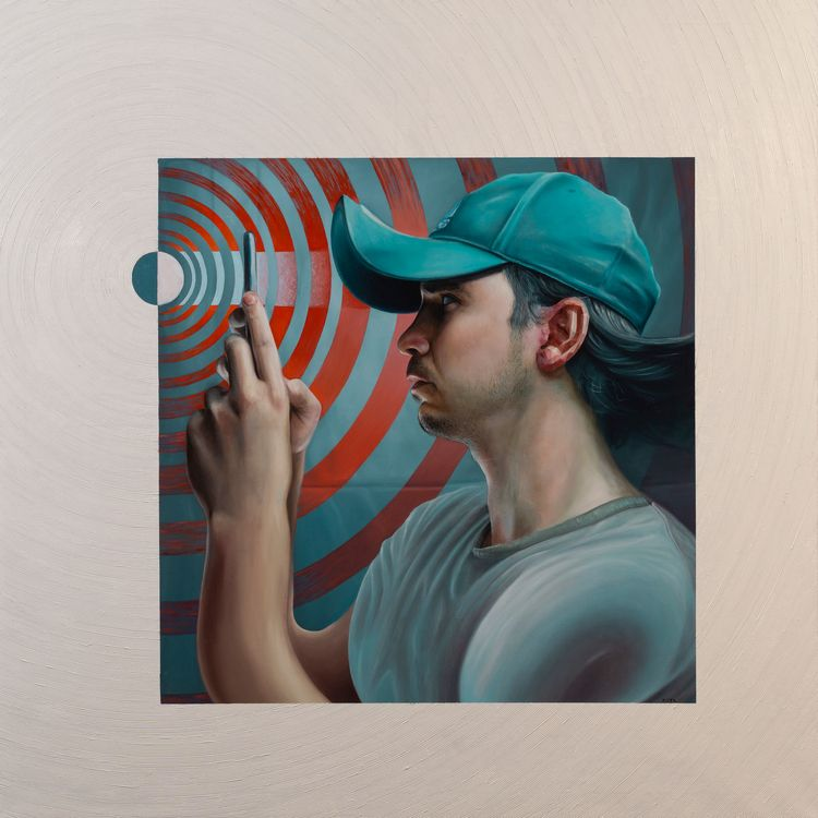 Portrait 5G Oil canvas 100x100c - victorfota   ello