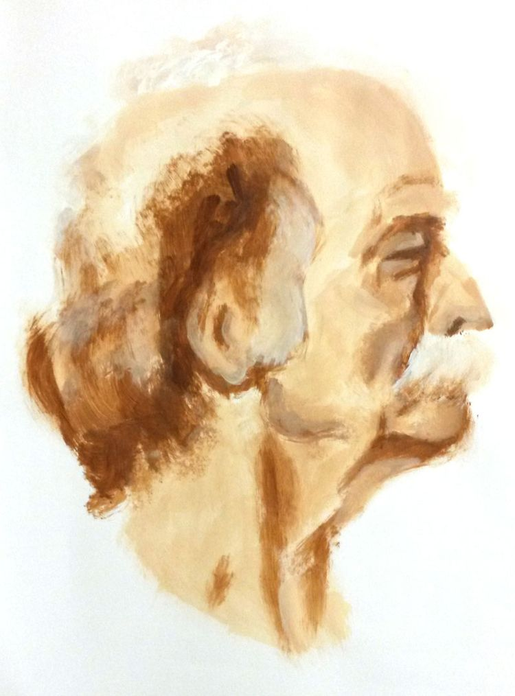 model drawing, study, male head - henkjanpanneman | ello