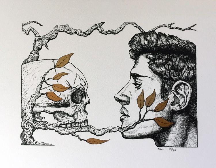 Mirror - Velin Arches paper Ink - nicglorieux_illustration   ello