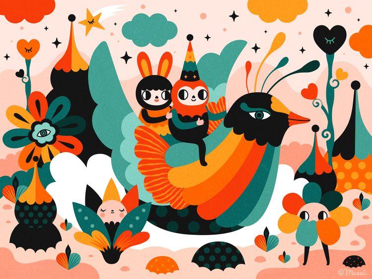 Spring Love - illustration, digital - muxxi | ello